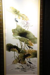 越南刺绣池塘
