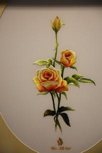 越南刺绣黄牡丹