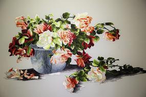越南刺绣花盆