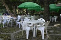 白云山公园欧式遮阳伞餐桌