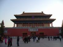 北京故宫后门