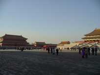 北京故宫太和殿广场