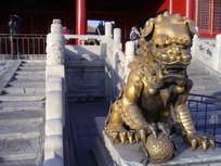 北京故宫铜制神兽