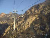 冬天的八达岭缆车