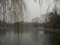 冬天的北京大学未名湖