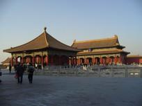 冬天的北京故宫建筑