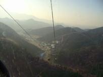 俯视八达岭长城缆车