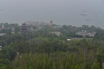 高空俯看刘公岛