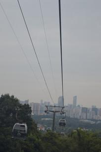 广州白云山索道缆车