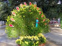 菊花展凤凰造型图片