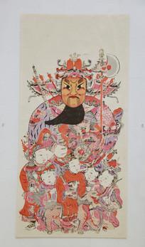 清代图画神茶郁垒