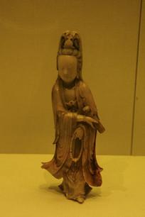 清寿山石雕观音立像