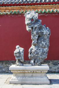 沈阳故宫石台与假山石