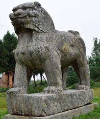 守陵的狮子石雕