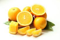 新鲜的冰糖橙
