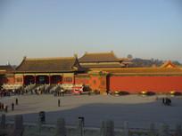 远眺故宫建筑