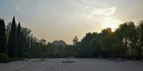 早晨的空旷广场图片