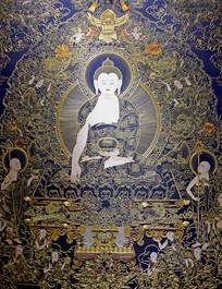 制作精美的佛祖人物刺绣