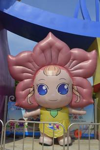 广州市儿童公园卡通女孩雕塑