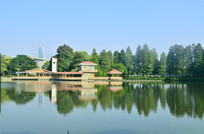 湖泊园林建筑风景