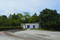 广州新体育馆广场绿树建筑