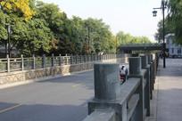 杭州运河边道路与围栏