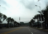 清镇职教城的道路