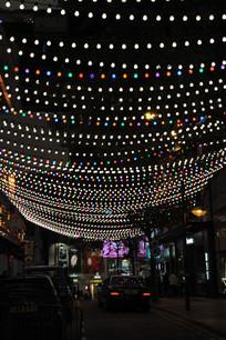 铜锣湾商业街的灯光