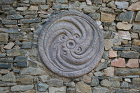 旋涡涡纹图腾石刻背景