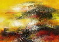 抽象画油画背景墙