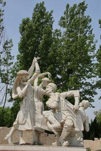 弹琴跳舞的维族青年男女