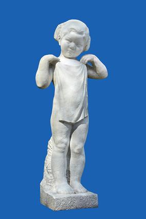 雕塑可爱女孩