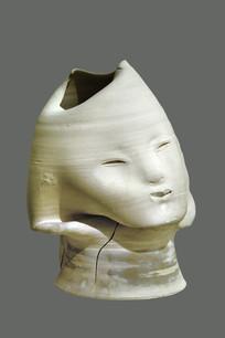 雕塑女子头像