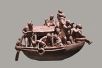 雕塑水乡游客