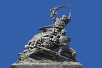 雕塑英勇抗日