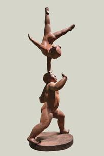 雕塑杂技表演