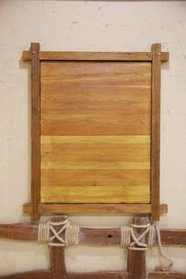 方形木板墙