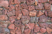 红色碳化石头背景