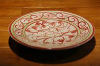 描红荷花餐盘