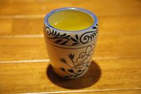青花直口茶杯