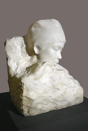 石雕白衣天使