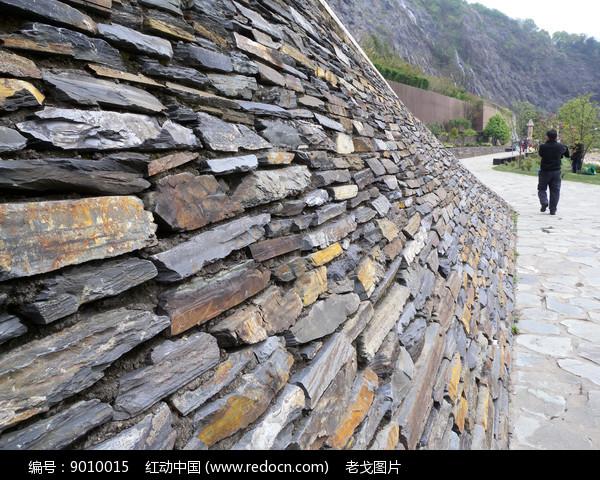 石磊墙图片