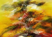 玄关壁画抽象油画