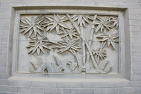 砖雕竹林和竹笋