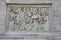 砖雕竹林竹笋