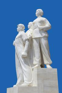 雕塑新中国民兵