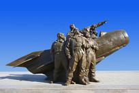 雕塑志愿军空军