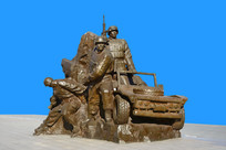 雕塑中国空降兵