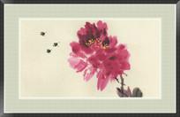 蜜蜂与花卉装饰画
