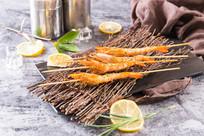 柠檬汁煎明虾